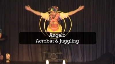 Jugglng and acrobat